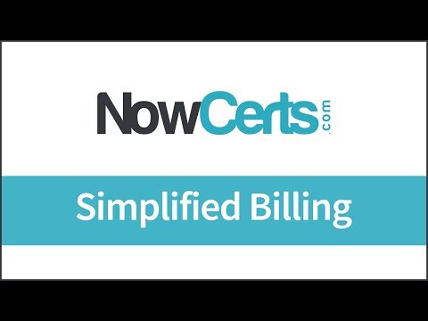 NowCerts.com - Agency Management System - Simplified Billing