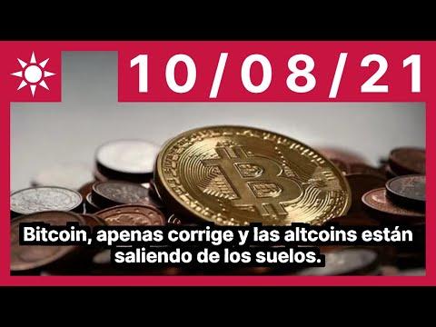 Bitcoin, apenas corrige y las altcoins están saliendo de los suelos.