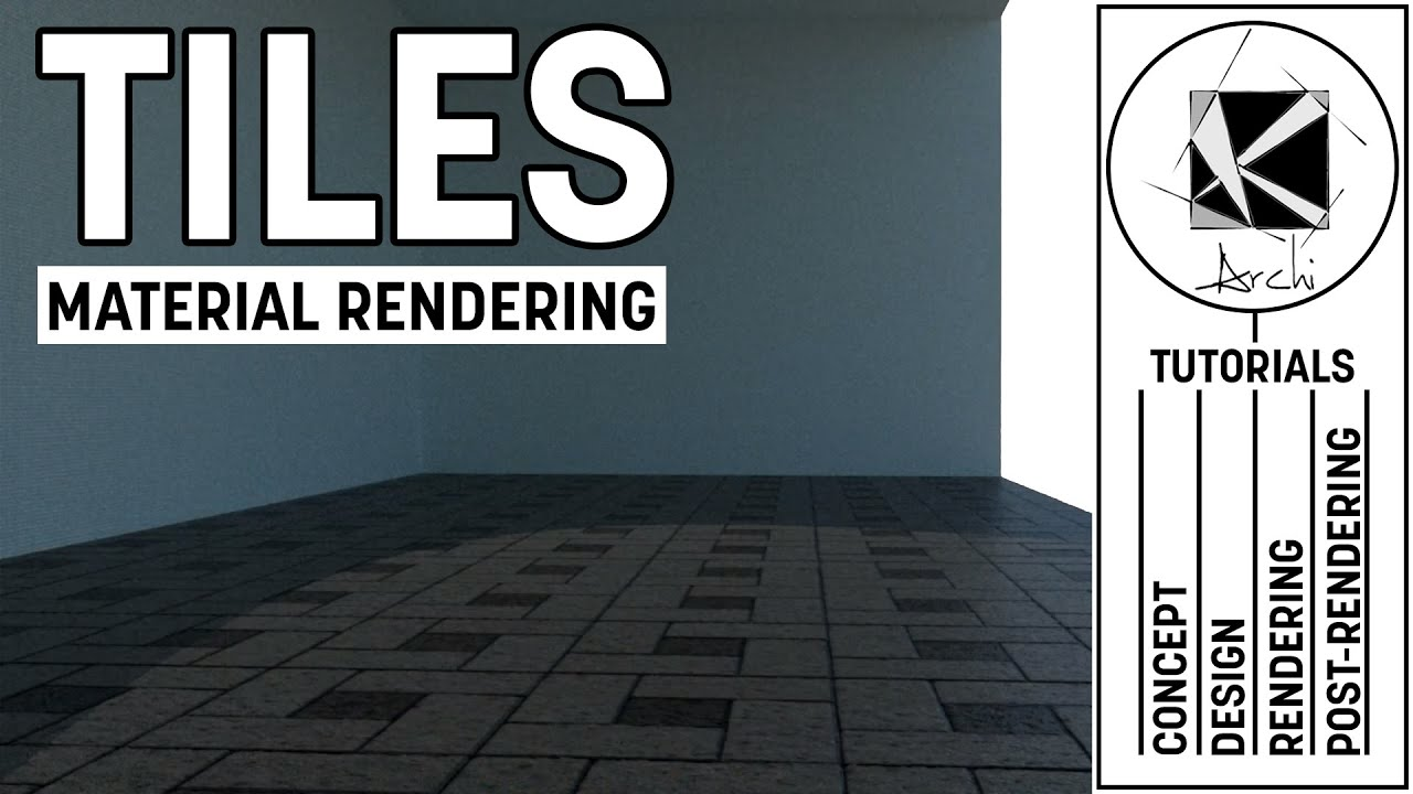 Tile material tutorial vray sketchup  youtube