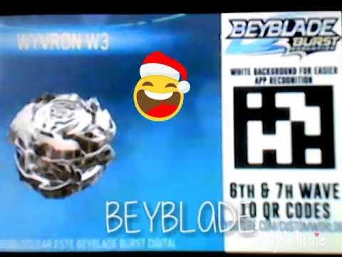 Beyblade Burst QR Codes Wyvron W3 Gold And More
