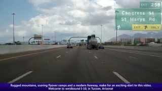 Westbound Interstate 10 in Tucson, Arizona