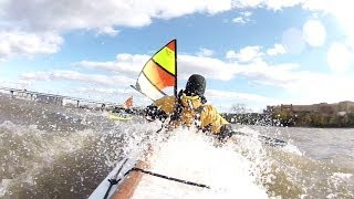 Kayak Sailing in big winds Thumbnail