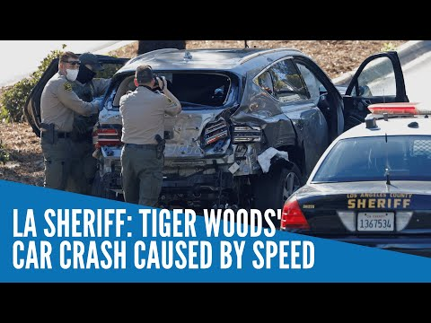 LA Sheriff: Tiger Woods' car crash caused by speed