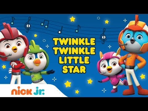 Twinkle, Twinkle Little Star Nursery Rhyme Remix 🌟 Top Wing Lyric Video | Nick Jr.