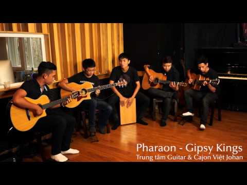 Pharaon - Gipsy Kings (live session - lớp guitar & cajon Việt johan).