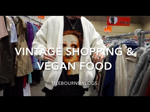 Vintage Fashion Shopping & Vegan Food | Melbourne Vlogs