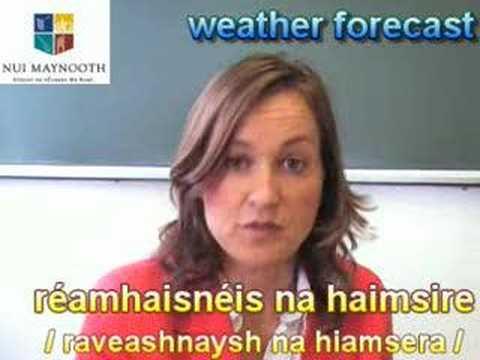 Learning Irish: the weather