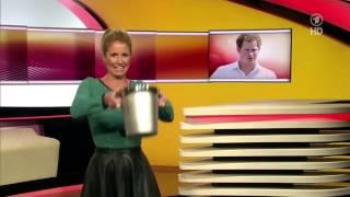 Repeat youtube video Mareile Hoeppner Ice Bucket Challenge ARD Brisant 20 08 2014 slow motion
