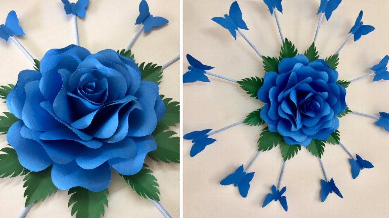 Paper Flower Wall Hanging Paper Rose Flower Craft Paper