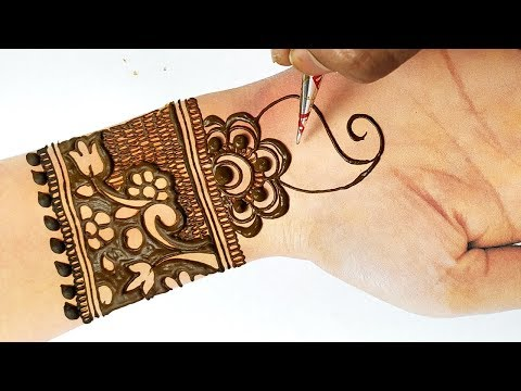 Easy Beautiful Mehndi - New Stylish Mehndi Design Step by Step - ईद पे मेहँदी बनाने का आसान तरीका