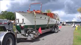 Historic 50 ft  Minett cruiser is reborn and re-launched