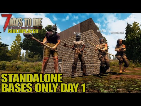 no-poi-bases,-day-one- -7-days-to-die- -alpha-18-mp-gameplay- -e01