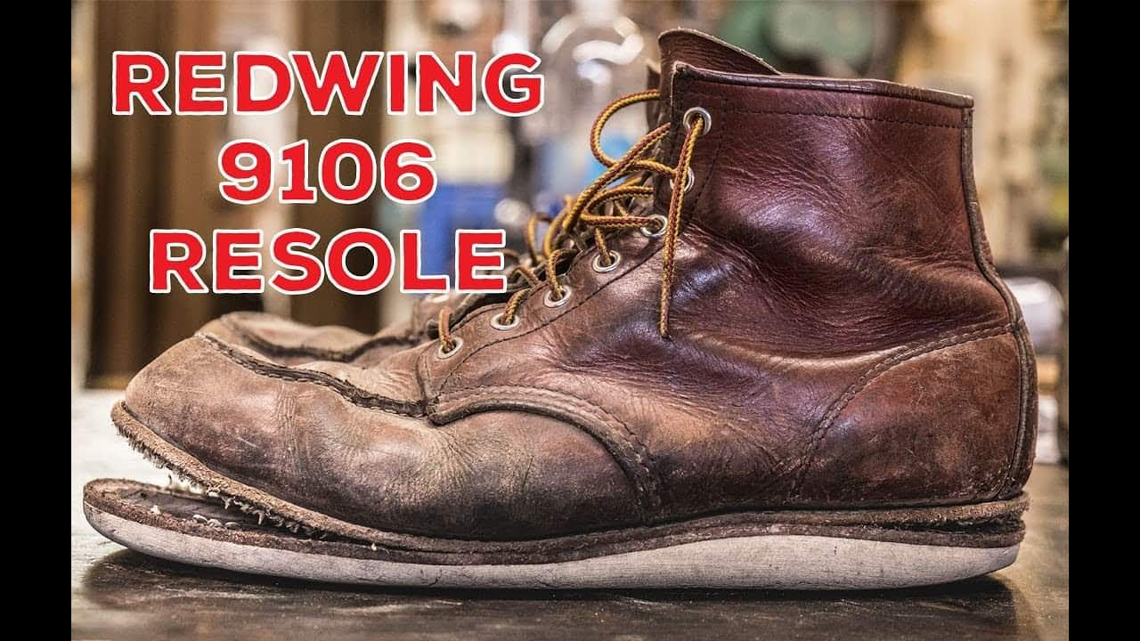 RED WING 9106 Resole #49 - YouTube