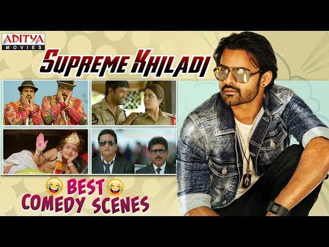 Supreme Khiladi Best Comedy Scenes | South Indian Dubbed Movies | Sai Dharam Tej | Rashi Khanna