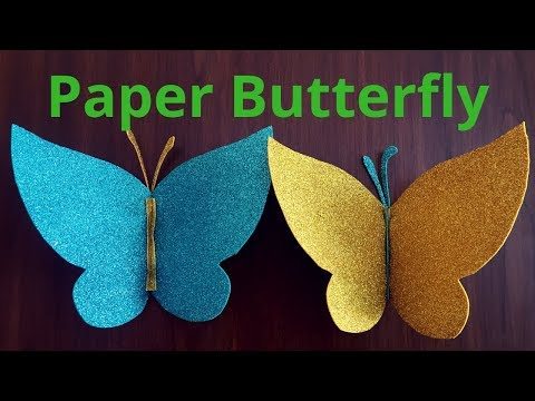 How to make Paper Butterfly   Easy paper butterfly  DIY paper butterfly