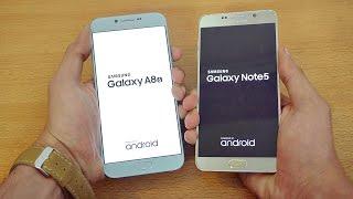 Samsung Galaxy A8 (2016) vs Galaxy Note 5 - Speed Test! (4K)