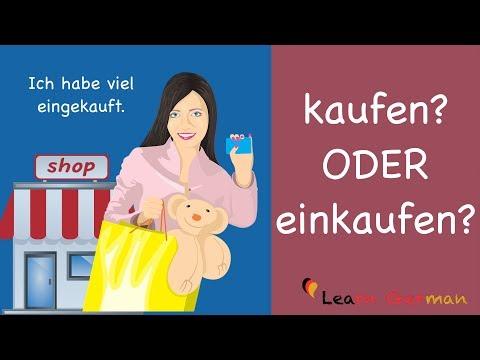 Learn German | German Grammar | kaufen oder einkaufen? | A1 | A2
