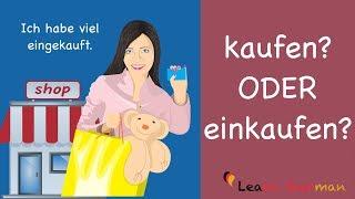 Learn German | Common Mistakes in German | kaufen oder einkaufen? | A1 | A2