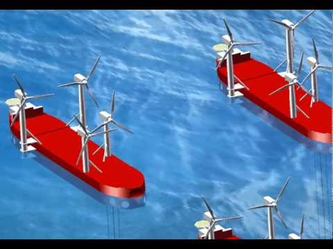 Offshore Ship Based Wind Farm Concept including Subsea Equipment