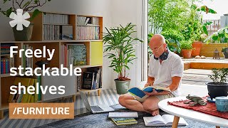 Tetris-like Stacking + Legoish Shelves: Modular Minimalist Furniture (brickbox)