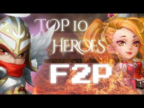 TOP 10 BEST HEROES F2P ( October 2017 ) Castle Clash