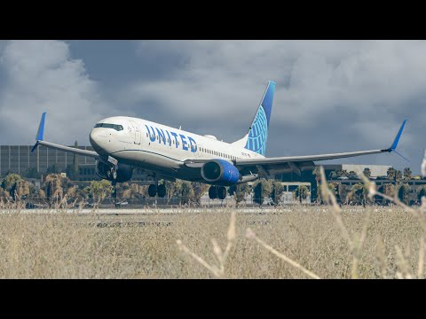 X Plane 11 2020 MAX Realism   United Airlines 737-800 Full Flight To LAX