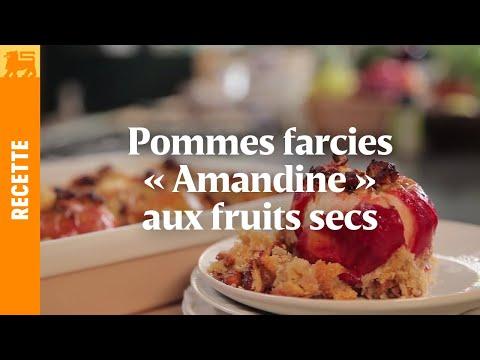 Pommes farcies « amandine » aux fruits secs