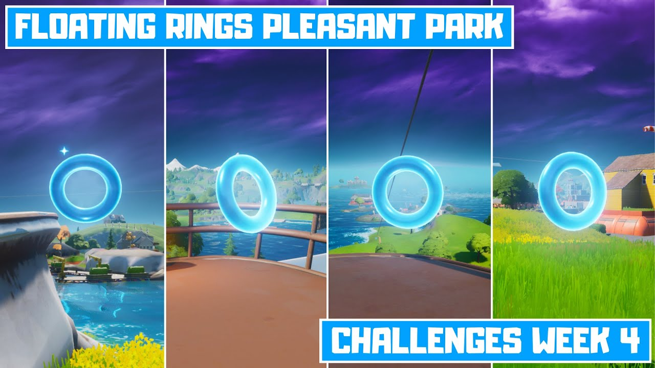 Collect Floating Rings at Pleasant Park Fortnite Chapter 2 Season 3 Challenges Week 4