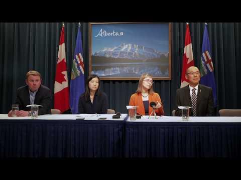 阿尔伯塔省冠状病毒媒体发布会 Alberta Press Conference about Coronavirus