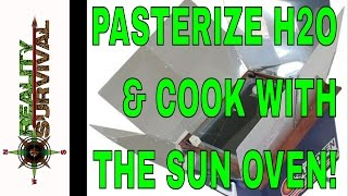 How To Pasteurize Water & Cook With The Sun! -- All American Sun Oven Review