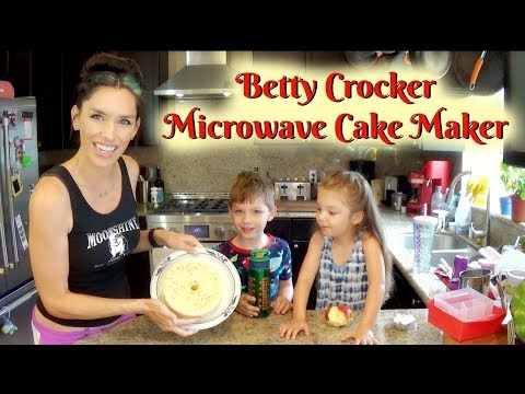 Betty Crocker Microwave Cake Maker Demo and Review