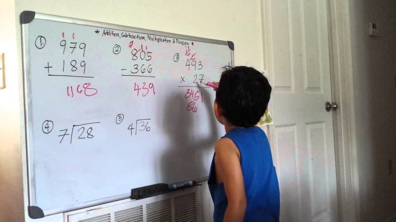 Four Basic Arithmetic Operations with 4-year old Miko (6-6-2014 ...