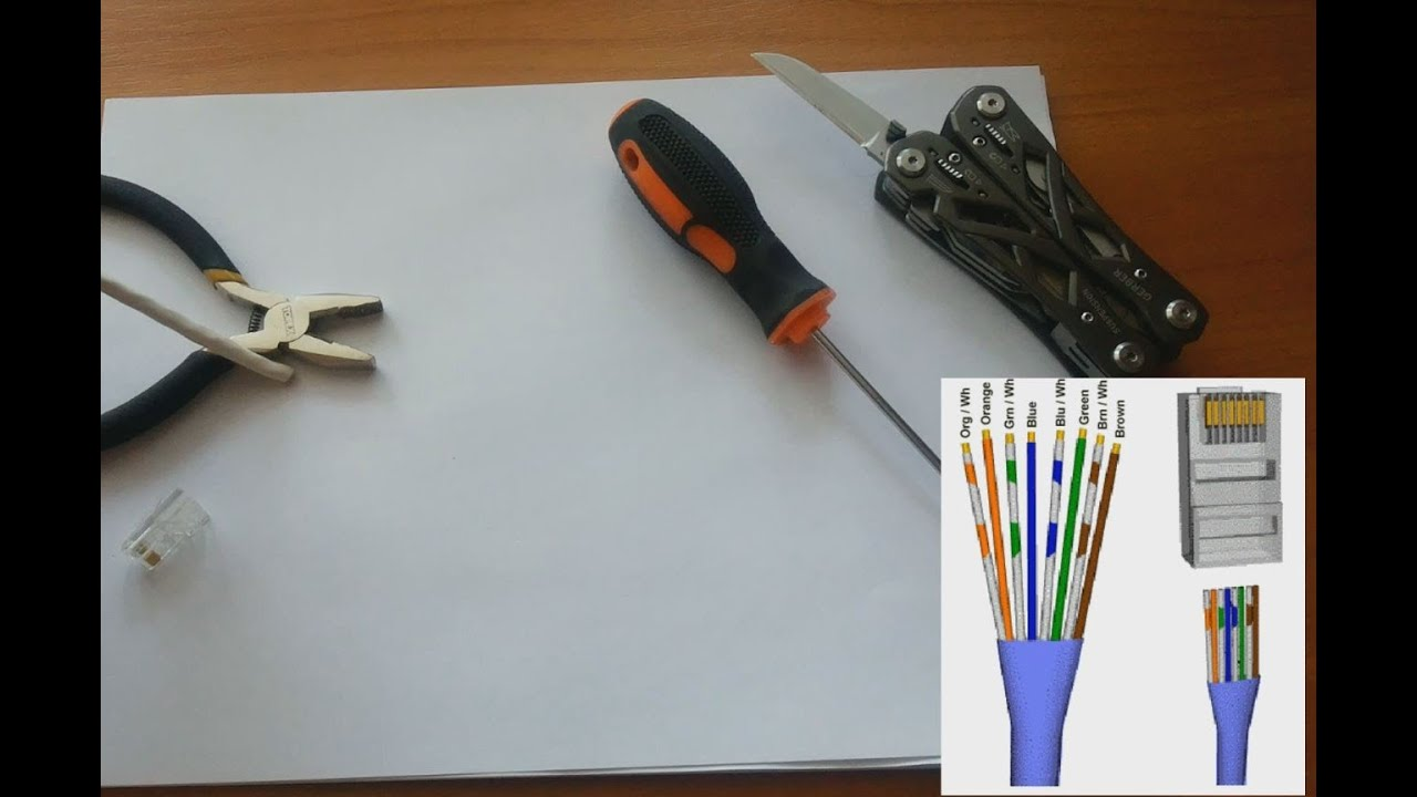 How to crimp Ethernet cable without crimping tool. Links for tools ...