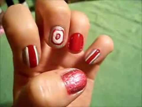 ohio state buckeyes nail design