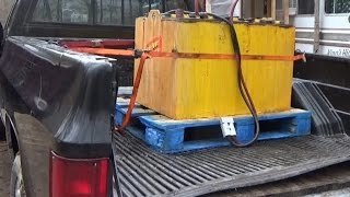Junk Forklift Battery For Off Grid Solar Experiments