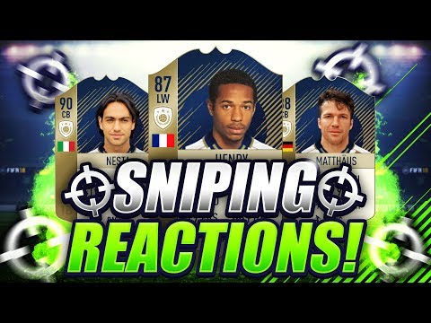 500K PROFIT IN 1 SNIPE  ICON SNIPING ON FIFA 18  SNIPING REACTIONS EP16