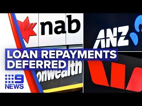 Coronavirus: Major banks defer loan repayments for small businesses   Nine News Australia