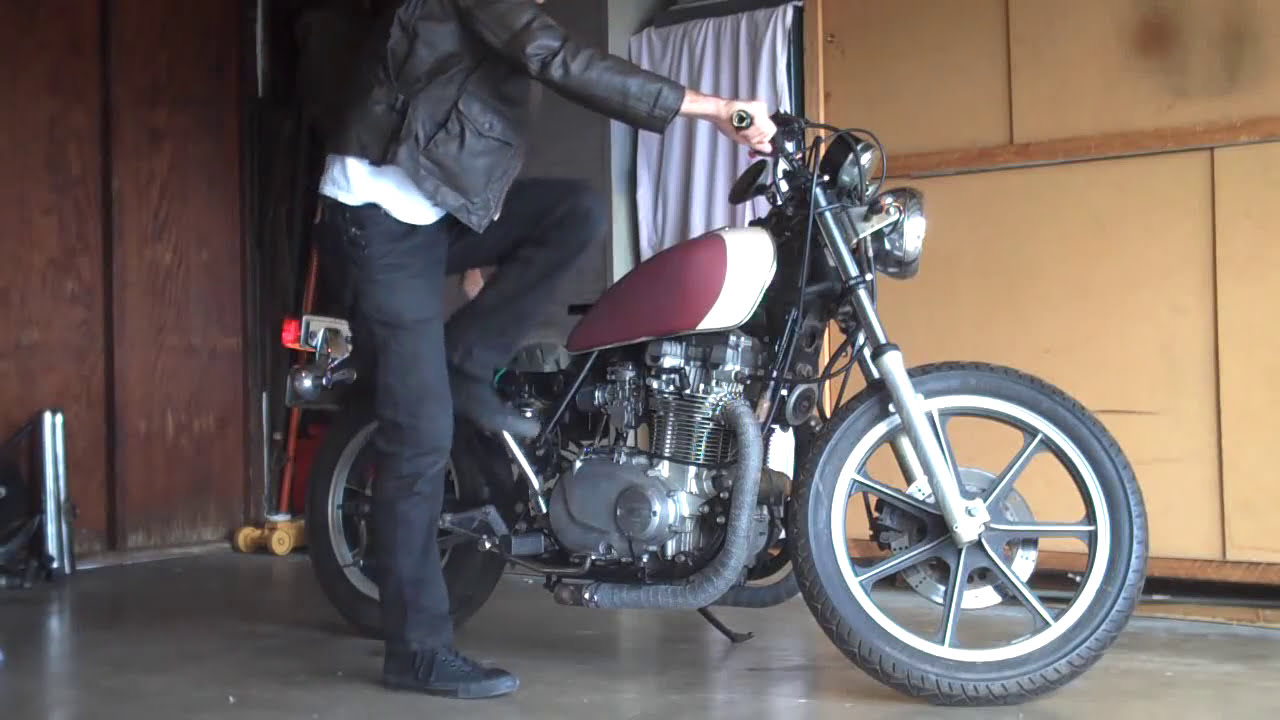 Kz750 With Straight Pipes (Post-Jet)  Hatchet Builds Choppers 01:15 HD