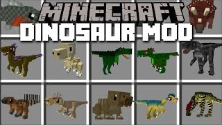 Minecraft LOTS OF DINOSAURS MOD / HIDE FROM THE T-REX!! Minecraft