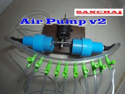DIY - How To Make A Air Pump V2 ปั๊มออกซิเจน