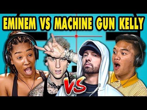 Teens React To Eminem/Machine Gun Kelly Diss Tracks