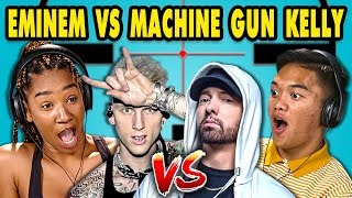 Teens React to Eminem/Machine Gun Kelly Diss Tracks