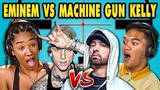 Teens React To EminemMachine Gun Kelly Diss Tracks