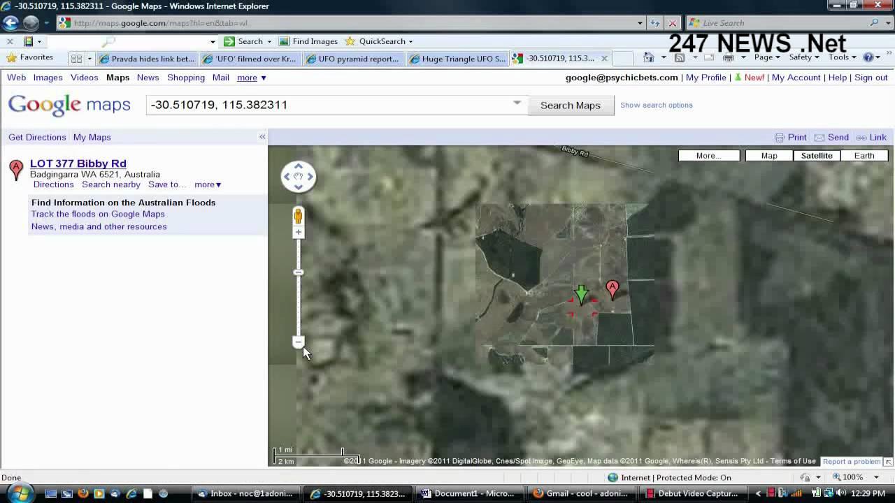 Triagle UFO on Google Maps Satellite Image MUST SEE REAL UFO