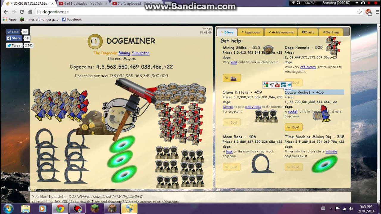 dogeminer  account   world youtube
