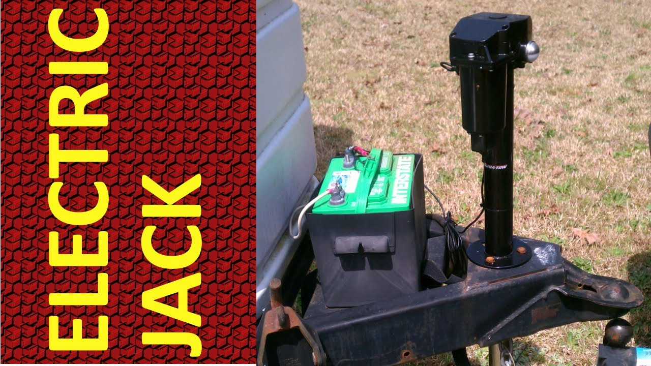 small resolution of electric jack installation on travel trailer