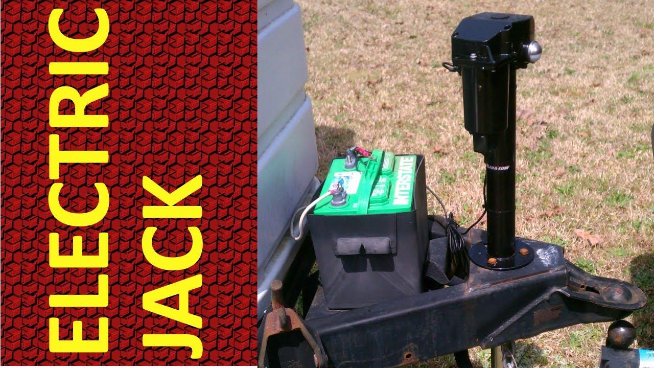 electric jack installation on travel trailer [ 1280 x 720 Pixel ]