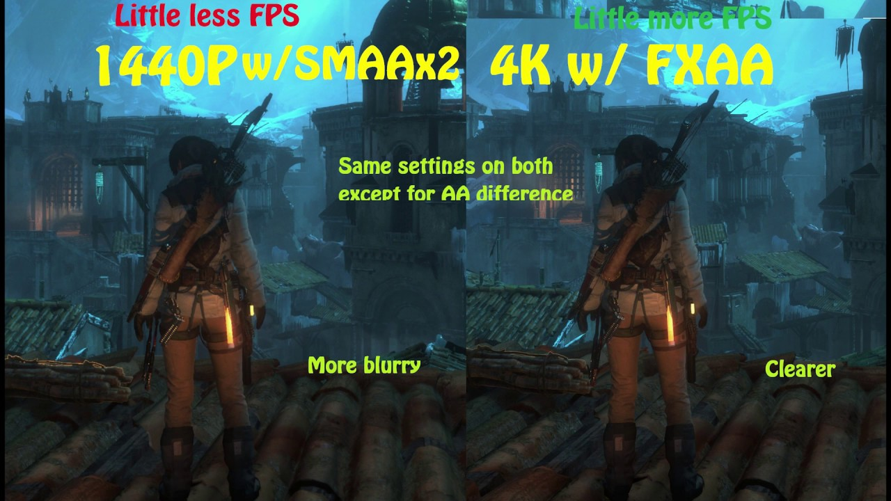 1440P on a 4K screen explained - (Play the video in 1440p - 4K to