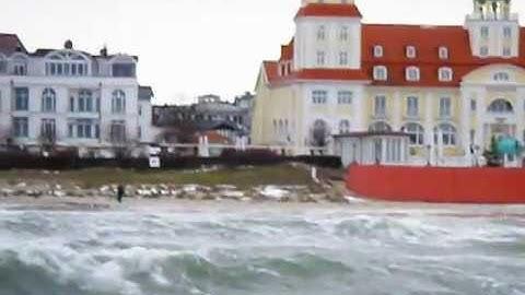 Ostseebad Binz auf Rügen bei stürmischen Wetter