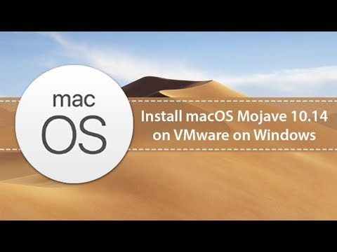 How To Install Macos Mojave 11 4 on Vmware workstation 15-Windows 10